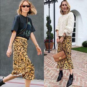 NWT Anine Bing Leopard Skirt
